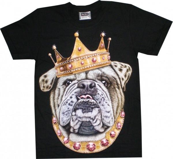 GTS 114 - T-Shirt mit Hund mit Krone - beidseitig farbig bedruckt