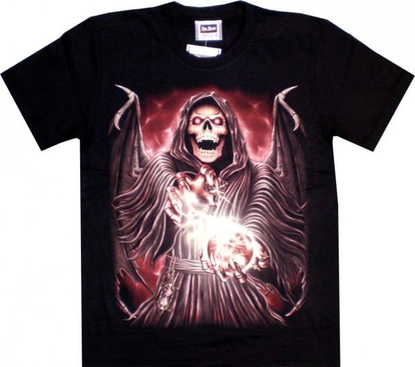 T-Shirt - EAGLE-Shirt mit Skull - beidseitig farbig unterschiedlich bedruckt - ETS06
