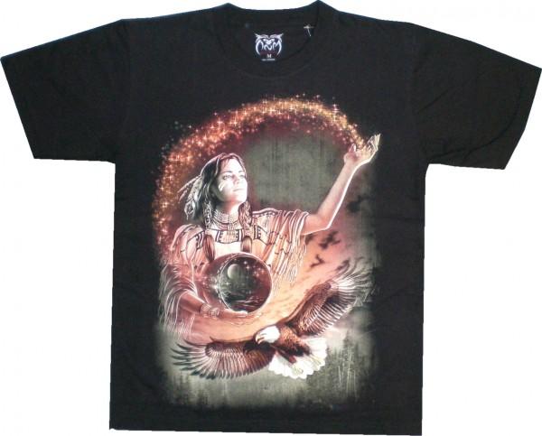 T-Shirt mit Indianerin und Adler