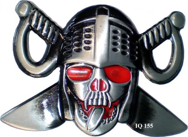 IQ 155 - Gürtelschnalle Pirat mit roten Augen