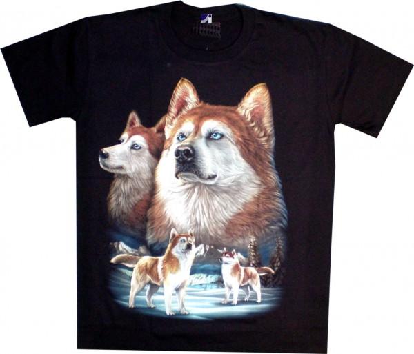 T-Shirt - Husky - beidseitig farbig bedruckt
