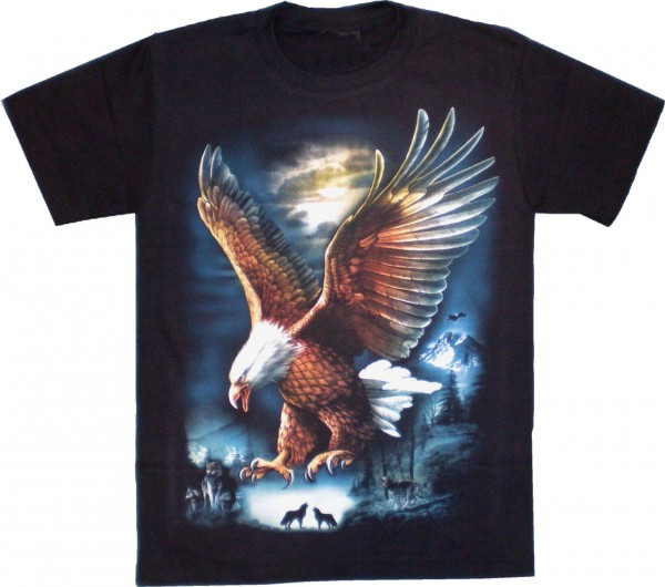 T-Shirt mit fliegender Adler
