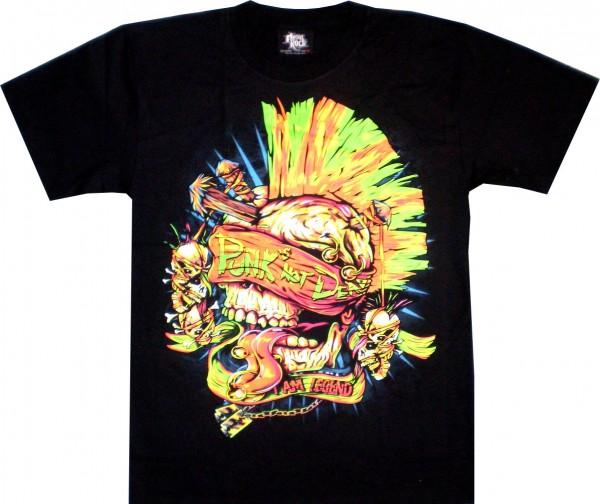 TS 166 - T-Shirt -- Punk Skull - Punk not dead - beidseitig farbig bedruckt