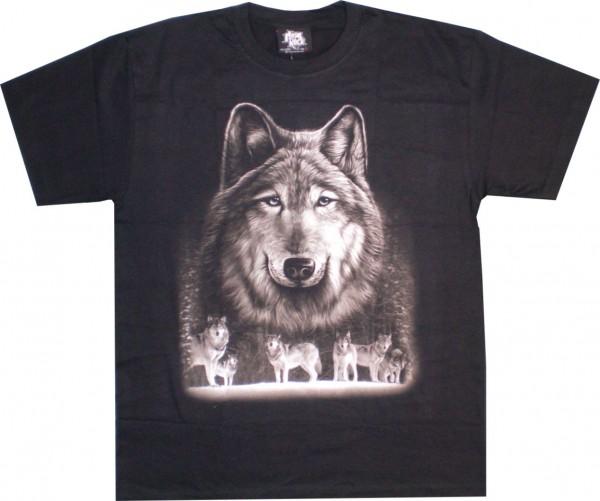T-Shirt - Wölfe - Glow in the dark - GTS159