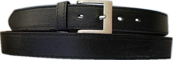KGL 2124 - Gürtel / Kunstledergürtel / PU-Gürtel gemustert in 3,8 cm, schwarz