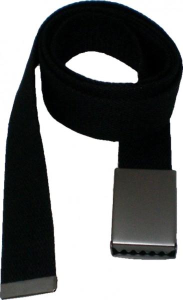 IQ 1536 Canvas-Gürtel, 160 cm langer Gürtel mit matter Metallschnalle, Stoffgürtel für Damen und Her