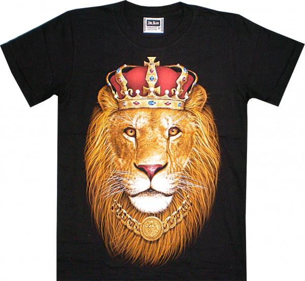 GTS 111 - T-Shirt mit Löwe mit Krone - beidseitig farbig bedruckt