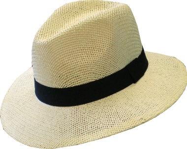 Hut1550 Hut, Strohut, Sommerhut mit Hutband in 4 Farben