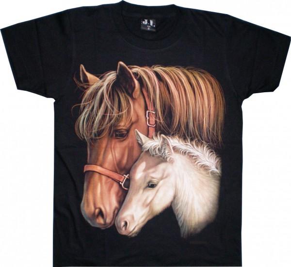 T-Shirt Pferd mit Fohlen