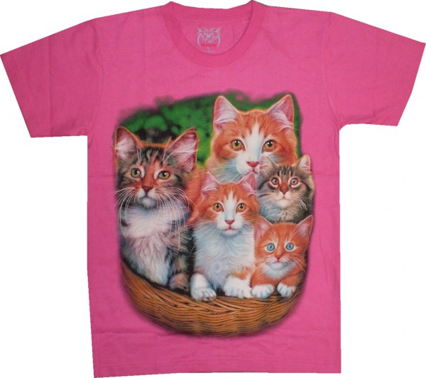 T-Shirt mit 4 Katzen