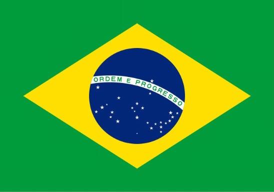 Stockfahne / Stockflagge Brasilien