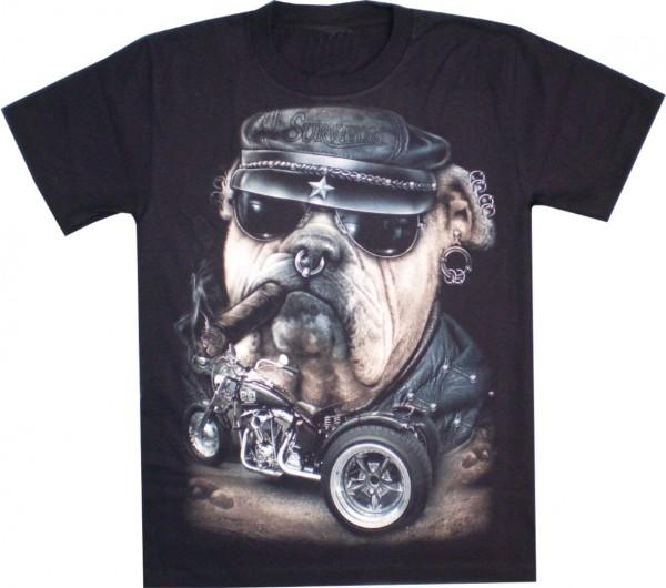 T-Shirt - Boxer und Bike - Glow in the dark