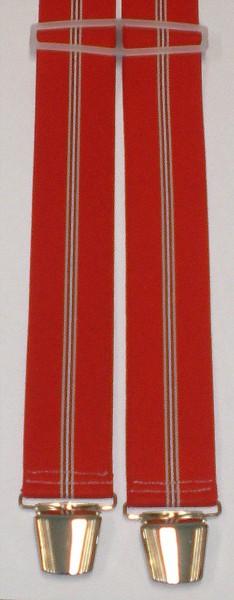 HHT12 - Hosenträger - H-Form - 4 Clips - Streifen