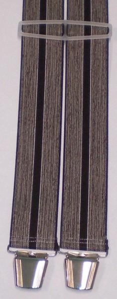 HHT14 - Hosenträger - H-Form - 4 Clips - Streifen