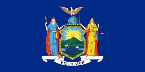 Länderfahne New York