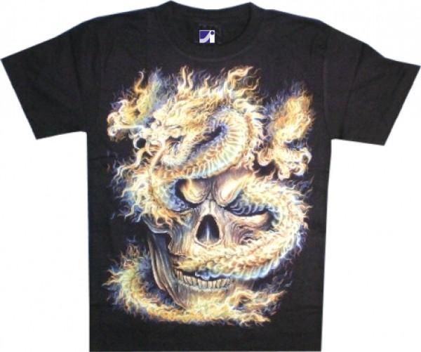 T-Shirt - Drache - Glow in the dark