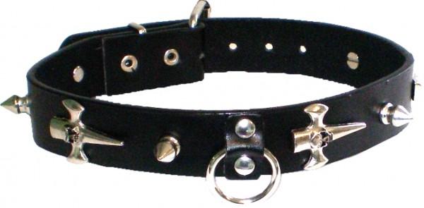 NHB 11 - Nieten-Halsband - Nieten-Halskette mit Killernieten + Dolche