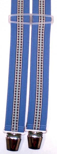 HHT39 - Hosenträger - H-Form - 4 Clips - gestreift