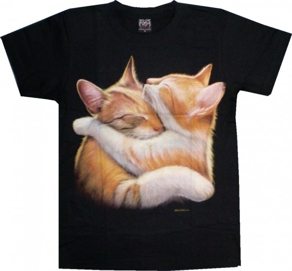 T-Shirt mit Katzen