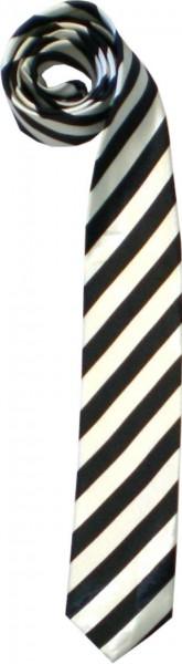 Krawatte02 - seidig glänzende Krawatten - Diagonalstreifen
