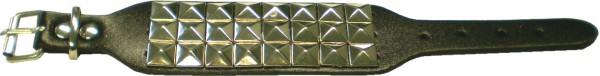 NAB 1763 - Nietenarmband -Pyramidennieten-Armband - 3 reihig