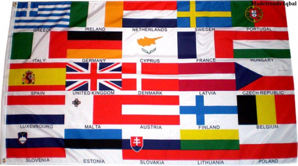 Länderfahne mit 25 Europaländern