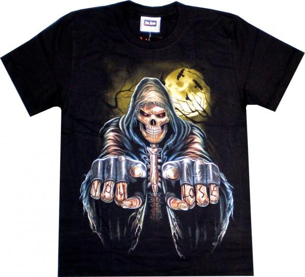"ETS 07 - T-Shirt mit Skull ""You lose"" - beidseitig farbig bedruckt"
