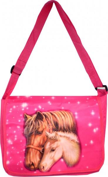 K-Tasche - Kinder-Tasche mit Pferde-Motiv in pink