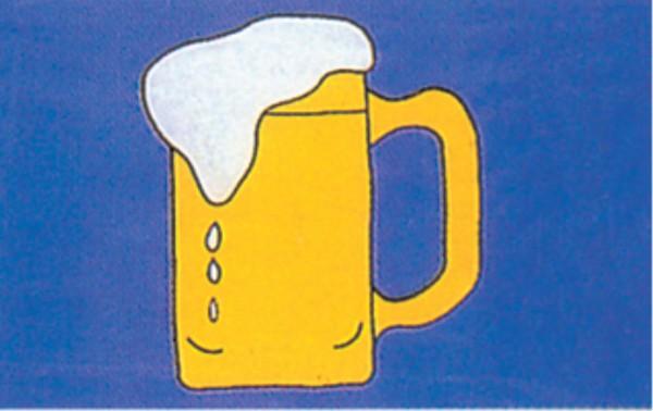 Stockfahne / Stockflagge Bierkrug