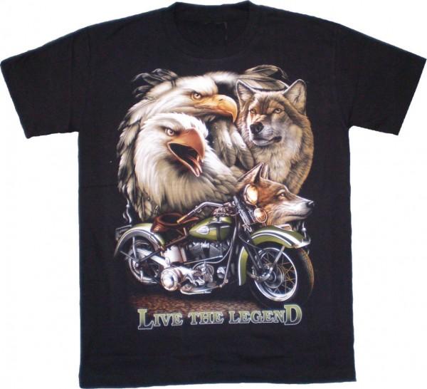 TS 127 - T-Shirt - Live the Legend - beidseitig farbig bedruckt