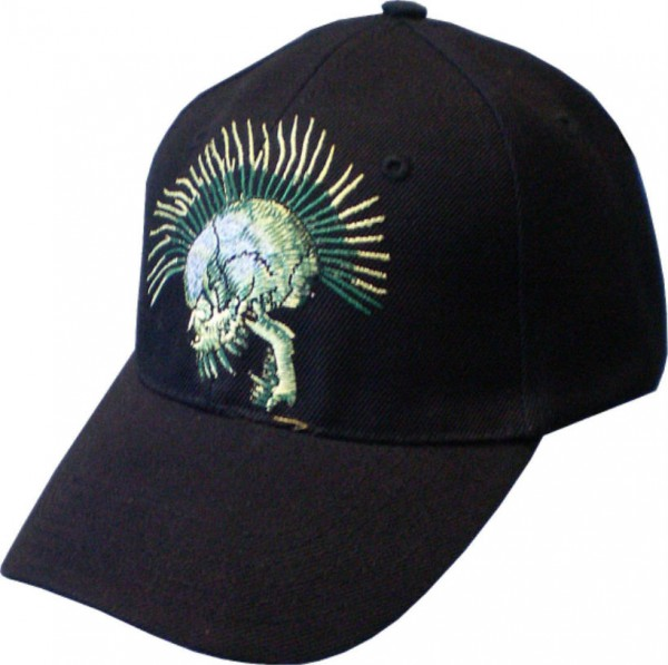 Cap05 - Cap mit Punk Skull bestickt