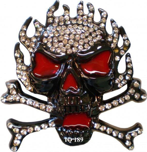 IQ 189 - Gürtelschnalle mit Strass - Pirat