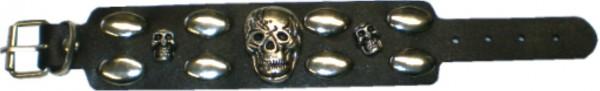 NAB 1810 - Nieten-Armband - Punk - Gothic - Totenköpfe