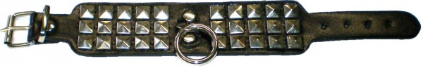 NAB 1815 - Nieten-Armband - Punk - Gothic - Pyramidennieten + Ring