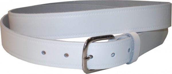 SPL05 - 3 cm breiter Spaltleder-Gürtel / Gürtel / Jeans-Gürtel mit Seitenprägung