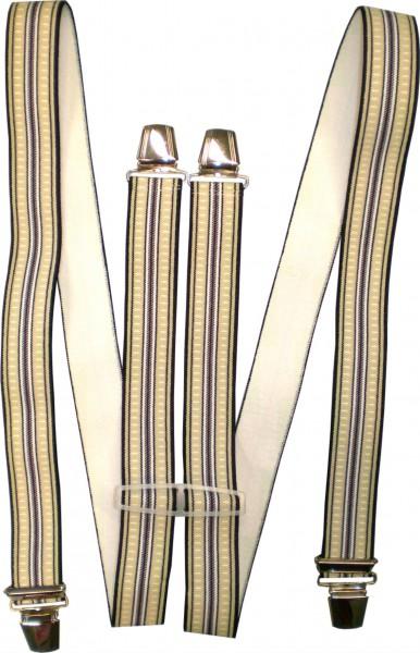 Hosenträger - H-Form - 4 Clips - Streifen - HHT02