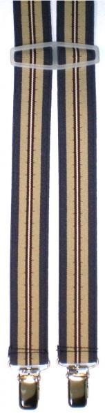 HHT81 - Hosenträger - 4 Clips - H-Form schmal