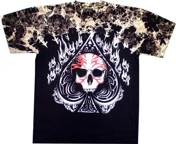 T-Shirt - Batik-Shirt - Totenkopf - Skull