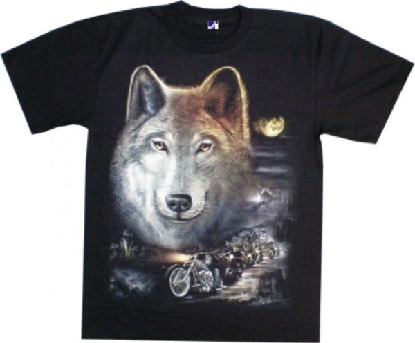 GTS 228 - T-Shirt - Wolf und Harley - Glow in the dark