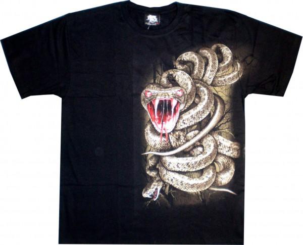 T-Shirt - Schlange - Glow in the dark mit Nieten