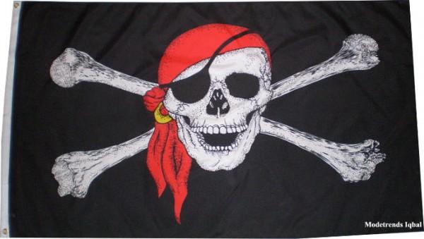 Fahne/Flagge Pirat mit Zandana