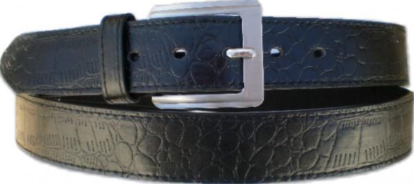 KGL 2130 - Gürtel / Kunstledergürtel / PU-Gürtel gemustert in 3,8 cm, schwarz