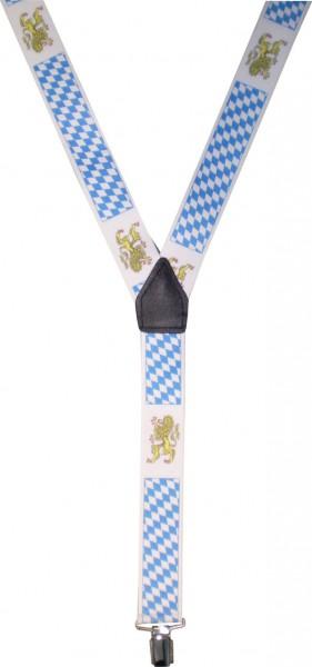HT75 - Hosenträger - Y-Form - 3 Clips - Bayern-Farben