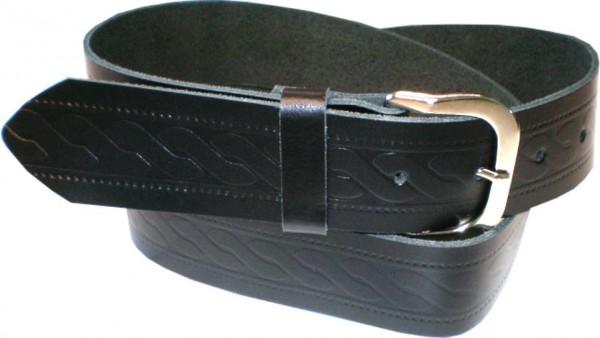 SPL08 - 3 cm breiter Spaltleder-Gürtel / Gürtel / Jeans-Gürtel mit Muster