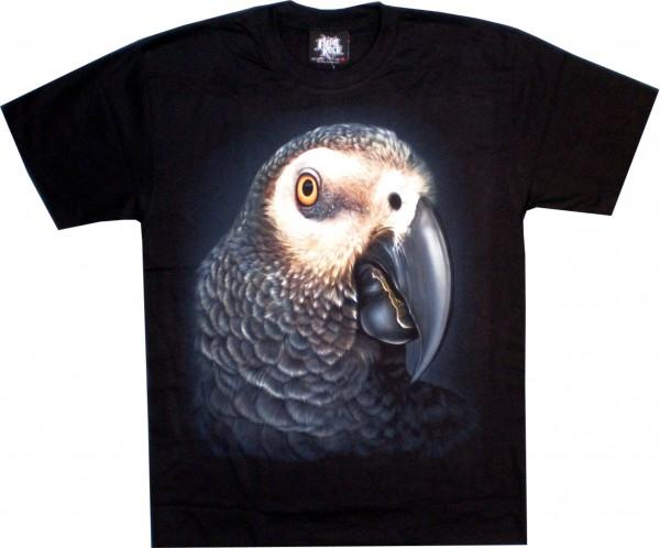 T-Shirt - Papagei - beidseitig farbig bedruckt