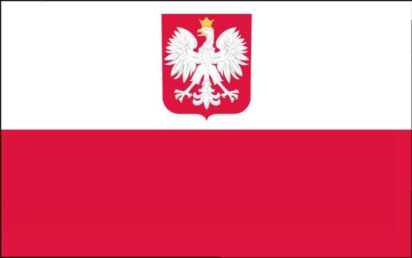 Länderfahne Polen mit Adler