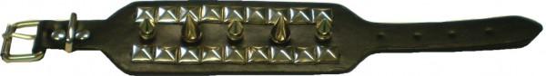 NAB 1807 - Nieten-Armband - Punk - Gothic - Killernieten + Pyramidennieten