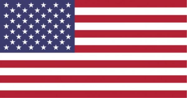 Stockfahne / Stockflagge USA