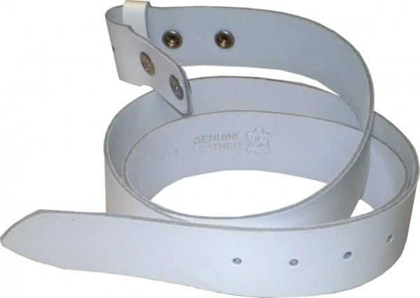 SPL06 - 4 cm breiter Druckknopf-Ledergürtel / Spaltleder-Gürtel / Gürtel / Glatt