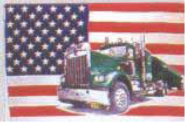 Länderfahne USA mit Truck